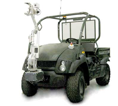 Kawasaki Mule retrofitted with the Pronto4 System and the RetroReach Manipulator Arm